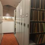 Rows of tall cabinets holding records at Toronto Reference Library.