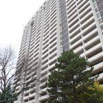 Dalhousie graduate Paige Smith's apartment building in downtown Toronto.