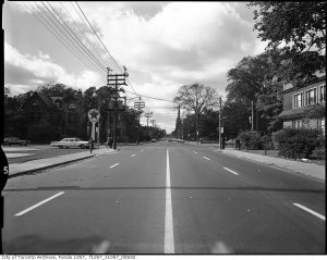 An empty street in Toronto from 1972