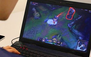 Computer screen with League of Legends.