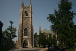 Exterior of Soldier's Tower at the University of Toronto.